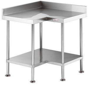 Simply Stainless <br />900mm x 600mm x 900mm Corner Work Bench
