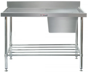 Simply Stainless <br />1200mm x 600mm Single Sink Bench Right Side Bowl