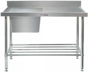 Simply Stainless <br />1200mm x 600mm Single Sink Bench Left Side Bowl