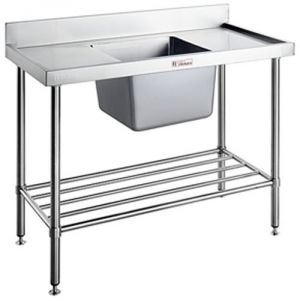 Simply Stainless <br />1200mm x 600mm Single Sink Bench Centre Bowl