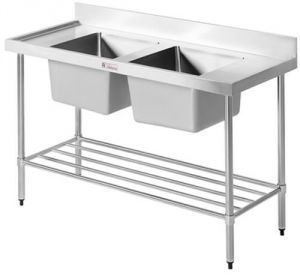 Simply Stainless <br />1200mm x 600mm Double Sink Bench
