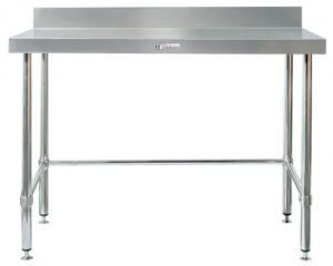 Simply Stainless Work Bench with Splashback & Leg Brace 600w x 600d