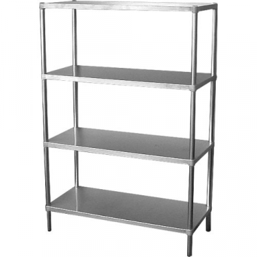 simply stainless adjustable stainless steel 4 tier shelving unit 900mm