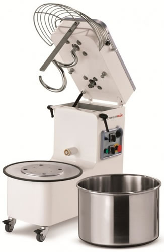 Mecnosud Spiral Dough Mixer Tilting Head 2 speed with 50 litre Bowl