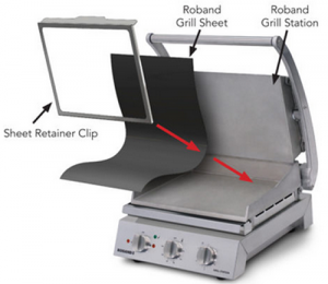 Roband non stick sheets & clip to suit 6 Slice Grill Station