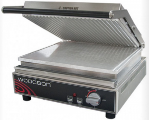 Woodson Contact Toaster Ribbed top plate