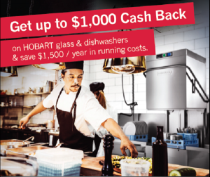 Hobart Dishwashers Cash Back Offer