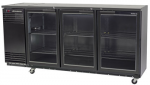 PERTH SKOPE SALE - 3 Glass Door Back Bar X Active Core Fridge Black
