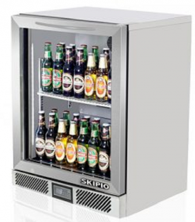 Skipio Back Bar Single Door Fridge White