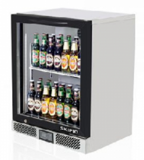 Skipio Back Bar Single Door Fridge Black
