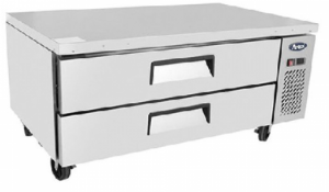 Atosa 2 Drawer Refrigerated Chef Base with 30 x GN pans