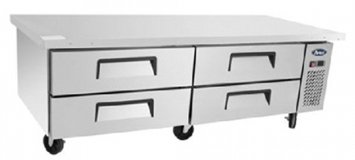 Atosa 4 Drawer Refrigerated Chef Base with 48 x GN pans
