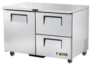 True one door two refrigerated Drawer under Counter Fridge