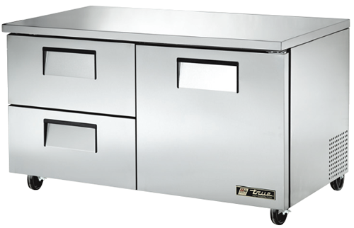True Large one door two refrigerated Drawer under Counter Fridge