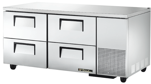 True Deep four refrigerated Drawer under Counter Fridge