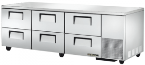 True Deep six refrigerated Drawer under Counter Fridge