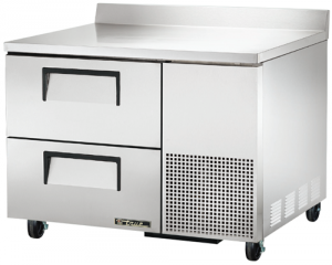 True Deep Work Top Bench Fridge with two refrigerated Drawers