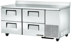 True Deep Work Top Bench Fridge with four refrigerated Drawers