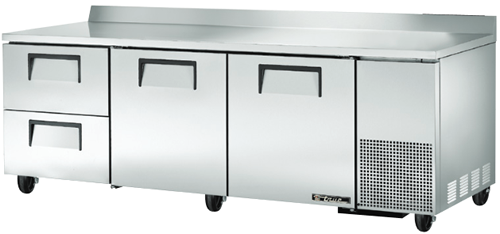 True Deep Work Top Bench Fridge with two Door & two refrigerated Drawers