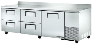 True Deep Work Top Bench Fridge with one Door & four refrigerated Drawers