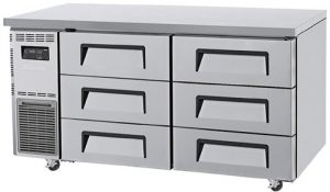 Turbo Air 6 Drawers Undercounter Freezer KUF15-3D-6