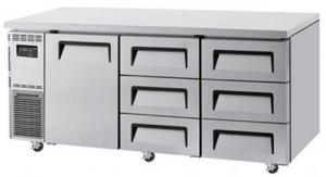 Turbo Air one door 6 drawer undercounter Fridge