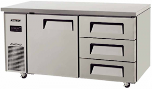 Turbo Air 3 Drawers 1 door Undercounter Freezer KUF15-3D-3