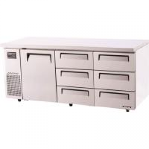 Turbo Air 6 Drawers 1 Door Undercounter Fridge KUR18-3D-6