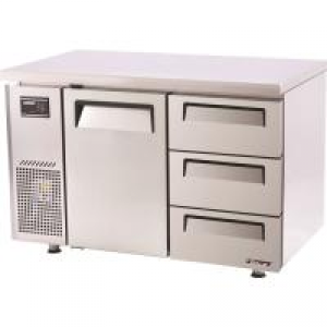 Turbo Air 3 Drawers 1 Door Undercounter Fridge KUR12-3D-3