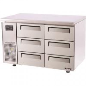 Turbo Air 6 Drawers Undercounter Fridge KUR12-3D-6