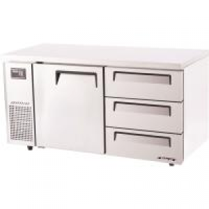 Turbo Air 3 Drawers 1 Door Undercounter Fridge KUR15-3D-3