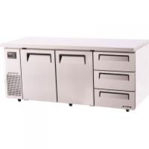Turbo Air 3 Drawers 2 Door Undercounter Fridge KUR18-3D-3