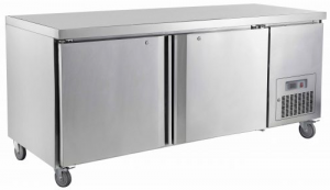 Saltas double solid door under counter Fridge CUS1800
