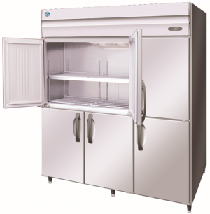 Hoshizaki Commercial Series Triple Half Door Pillarless Upright Freezer