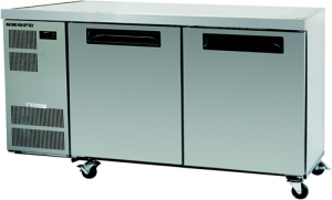 Skope Counterline two solid Door under counter Fridge