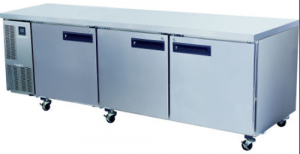 Skope Pegasus 2/1 three solid Door under counter Fridge