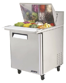 Turbo Air 1 Door Modular sandwich prep table fridge Mega Top