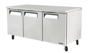 Turbo Air Undercounter 3 Door Modular Chiller 1846mm Wide