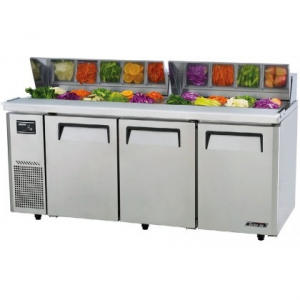 Turbo Air Food Prep Fridge With Hood 1800mm Wide KHR18-3