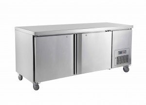 Saltas double solid door under counter Freezer 1800MM