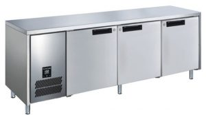 Glacian BCS61420 Triple Door Slimline Under Bench Fridge