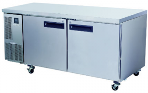 Skope Pegasus two Large solid door under Counter Freezer