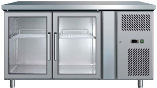 Bromic Ubc1360gd Two Glass Door Under Counter Bar Fridge Practical P
