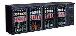 FED Black Magic DELUXE 4 x glass door Bar Fridge