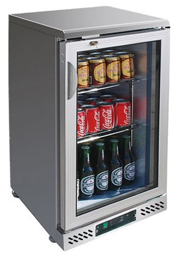 FED One glass door Stainless Steel Bar Fridge
