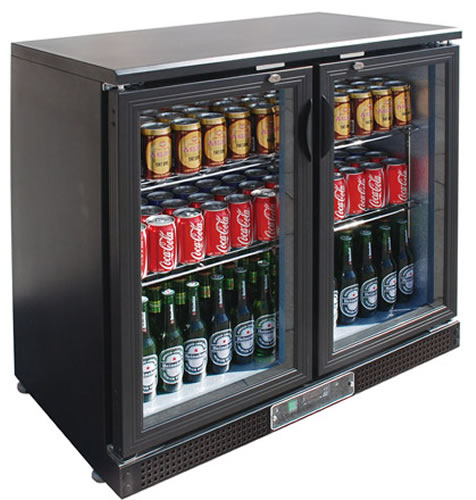 FED Black Magic Double glass door Bar Fridge