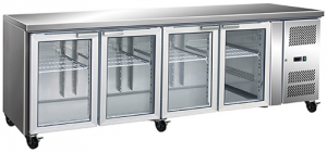 FED four glass door Under Counter Bar Fridge