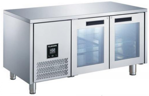 Glacian BCG61420 Double Door Slimline Under Bench Fridge