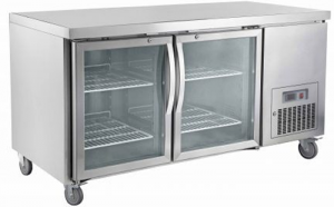 Saltas double solid door under counter Fridge CUG1500