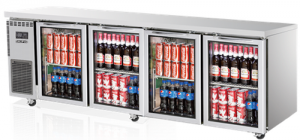 Skipio 4 glass door under counter Bench Fridge 600Lt